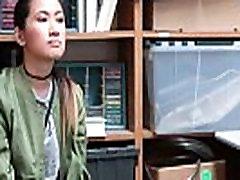 Asian teen gets cumshot