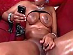Hairy ebony msnovember pounds her pussy with big dildos &amp squirts ALIVEGIRL