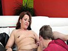 Lusty mature women gets pussy pounded by big fat dick