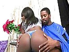Hot porn scene with this big butt ebony slut riding white dick 17