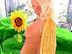 Enema slut rubs flower