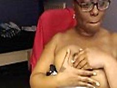 Mystery Woman Ebony Webcam Dildo Titfuck Porn