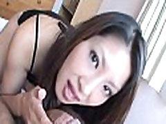 Lengthy hairy asian deepthroat act