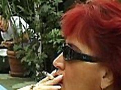 BIg chubby big tit redhead MILF getting fucked after fat blowob