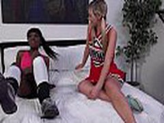 Ebony Lesbian Slut Fuck White Babe Anally With Thick Strapon Dildo 04