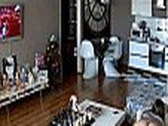 babysitter gets caught masturbating on hidden camera streamed live on collegecamz.com