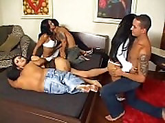 Brazilian midget Melissa and friends get fucked