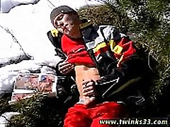 Indian grandpa twinks and male to male gay sex Roma Smokes In The Snow