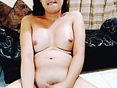 Sweet Shemale Faps Hard Cock to Satisfy Lust
