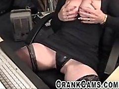 Mature Slut With Hard Nipples Playing on Cam - crankcams.com