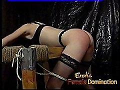 Delicious brunette slut has her perky boobs massaged really hard