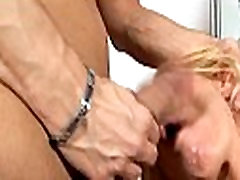 Guy works on horny mature vagina