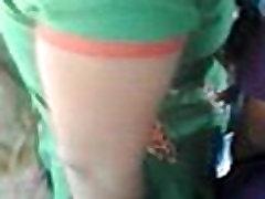 lesibian boob grab in bus 1