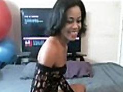 black girl from BlacksCrush.com goes ham on her throat