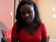 black teen from BlackCrush.com likes white cock