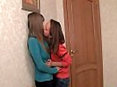 Lesbian teen climaxes