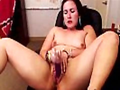Teen moaning redhead with small pierced boobs