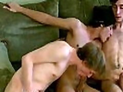 Gay sleeping twink Each of the boys take turns kissing and stroking
