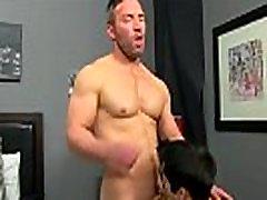 Amazing gay scene He gets on his knees and deepthroats Brock&039s chisel