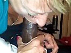 Mature lady deepthroats BBC