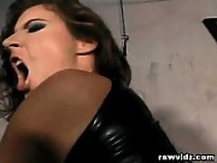Latex Mistress Dominates Her Sex Slave Hunk