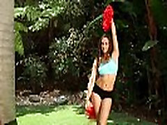Cheerleader teen creampied pussy