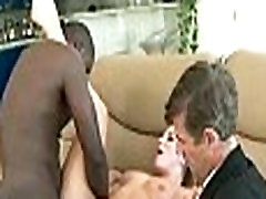 Mom makes son watch her get fucked by big black cock 070