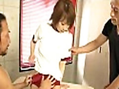 Naughty asian oral-service and shaving