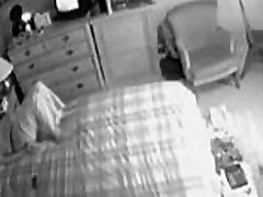 Hidden cam on the closet caught my mum masturbating on bed