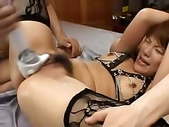 sexy asian anal fucking with stockings
