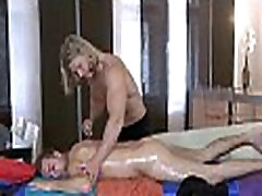 Stripped gay male massage