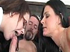 Mom and daughter tag team cock 268