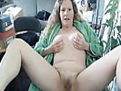 All natural busty mature blond goddess KRING rubbing hairy pussy