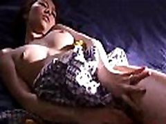 Cute Girl From Asia Gets Her Pussy Ate Out HD Asian, Bedroom, Blowjob, Brunette, Couples, Dress, E