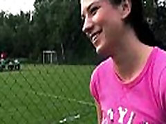 Amazingly tight Hottie fucked and jizzed on outdoors