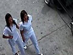 Asian Nurses Share A White Dick