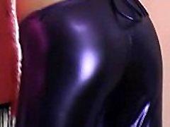 Chloe stuffed into some tight purple PVC panties