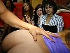 41 Rich milfs blowing strippers at underground cfnm party!04