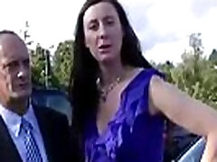 Mature British lady meets guy for sex outdoors