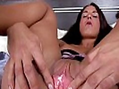Excited brunette wide gaping her wet pussy hole with speculum