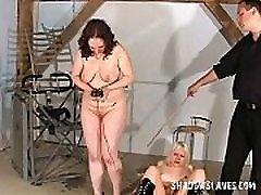 Two slavegirls electro shock tortured and enduring extreme interrogation rolepla