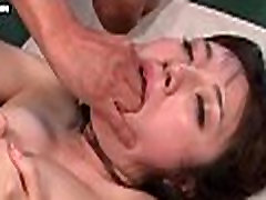 Cute asian gets mouth and pussy penetrated