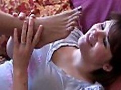 Hot ebony foot worship fetish