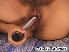 Petite lil real real asian toying