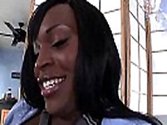 Ebony shemale loves being solo with her own hard dick