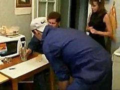 Girl forced to fuck with 2 Plumbers