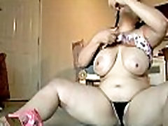 Beautiful big tits brunette BBW loves to talk dirty