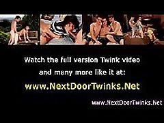 Teen twink gays enjoy cock sucking action