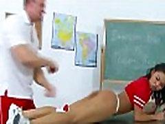 Ethnic cheerleader vixen gets fucked by her teacher