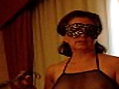Masked Mature sucks off hubby